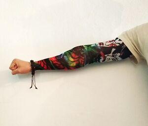 1-X-MANICHE-TATTOO-Vari-Colori-Tatuaggi-Tatuate-Manicotti-Finti-Skin-Sleeve-Ink