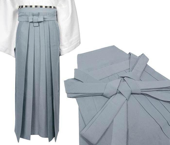 Japanese Traditional Kimono Samurai HAKAMA Pants Polyester Gray from JAPAN