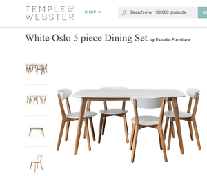 OSLO DINING TABLE AND CHAIRS Blacktown Blacktown Area Preview