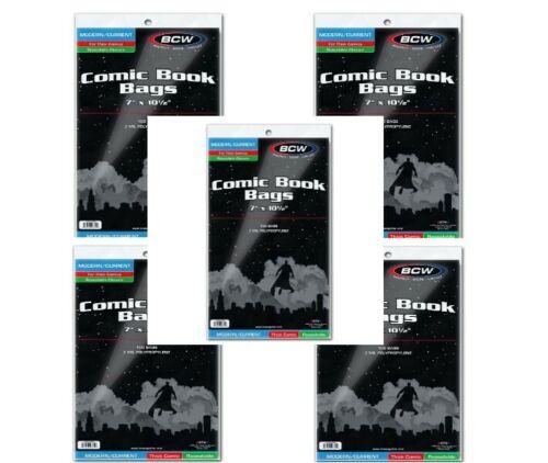 500 - BCW Current Modern Thick 2-Mil Polypropylene Resealable Comic Book Bags!