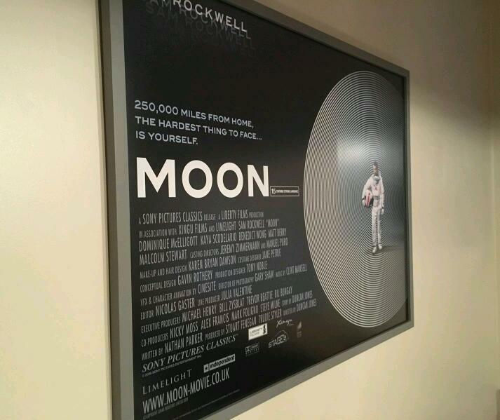 Super Rare Moon Uk Quad Poster With Anti Glare Frame In