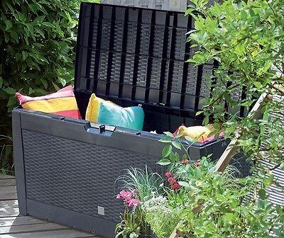 Gartenbox Auflagenbox Truhe Box Gartentruhe Kissenbox Gartenkasten 3 Modelle