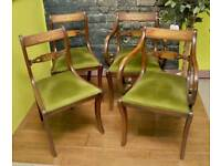 Vintage Set Of 4 Dining Chairs- Can Deliver For £19