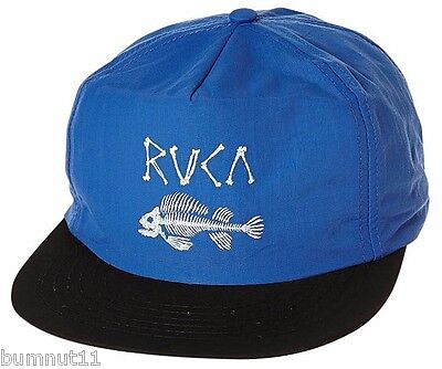 Men's RVCA Dead Fish Submersible Snap Back Cap. One Size. NWT, RRP $39.99.      - Dead Fish Hat