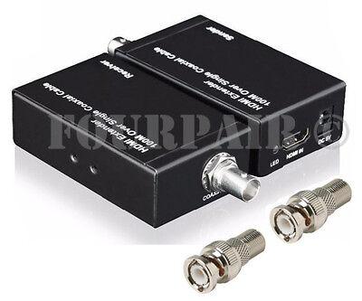HDMI Repeater Balun Extender Over 1 Single RG6 Coax Cable BNC 1080P 100M (328FT) Hdmi Coax