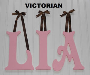 10 painted wood wall letters wooden name nursery