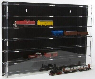 SORA Vetrinetta Modellini Treni H0 , Pannello Retro: Nero, Montabile Muro