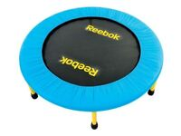 Reebok exercise mini trampoline. 36 inches diameter. Hardly used. Excellent condition.