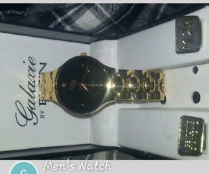 men's watch and gold plated jewelry