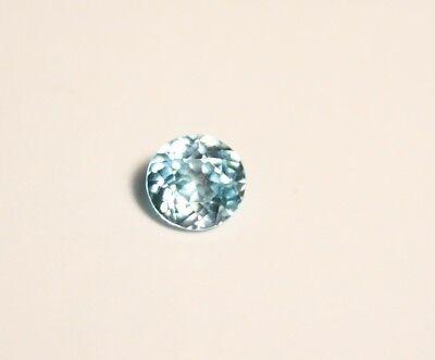0.78ct Blue Zircon - Clean Custom Cut Brilliant Round - Cambodia