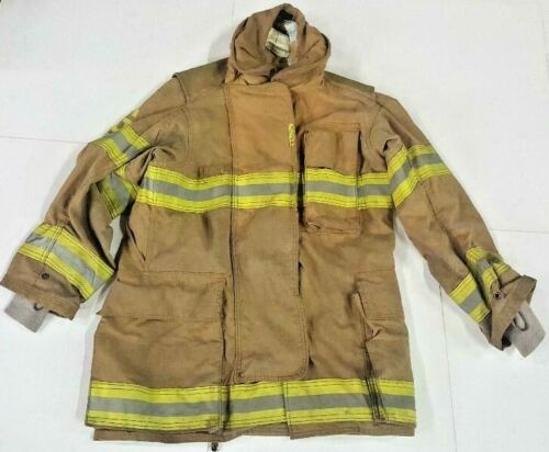38x35 38T Securitex Brown Firefighter Jacket Turn Out Gear No Liner JNL-30