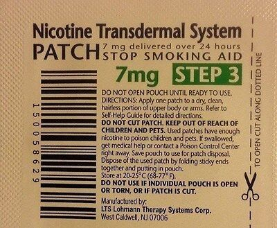 Habitrol Nicotine Transdermal System Patch 7Mg Step 3 14 Patches  2 Week Kit