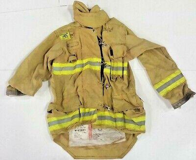 38x33 Morning Pride Brown Bunker Turnout Firefighter Coat Jacket No Liner Jnl-39