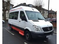 LHD LEFT HAND DRIVE MERCEDES SPRINTER 311 CDI AUTOMATIC 9 SEATER 2006 AIRCONDITIONING