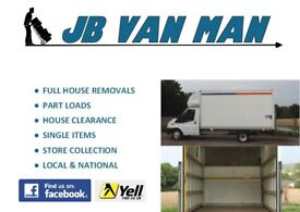 HOUSE REMOVALS AND VAN MAN SERVICES 5* CUSTOMER RATED, FULLY INSURED, LARGE LUTON VAN, TWO MEN