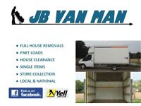 JB- VAN MAN AND REMOVALS HOUSE REMOVALS 5* CUSTOMER RATED, FULLY INSURED, LARGE LUTON VAN, TWO MEN