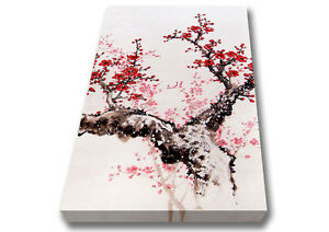 Chinese Cherry Blossom Tree Eastern Canvas Print Wall Art A2 Size 04207