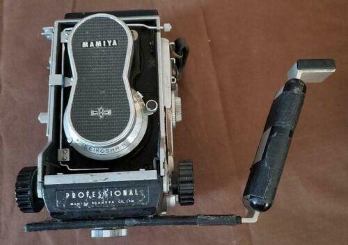 Mamiya C3 Professional med format camera w/80mm f2.8 Sekor lens and flash holder