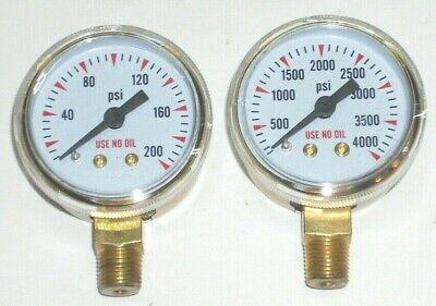 Oxygen Regulator Gauge Set For Port A Torch Tanks 1 12 Dia W 18 Npt Inlet