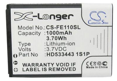 New Premium Battery forFiio E11 Replacement Fiio HD533443 1S1P 1000mAh / 3.70Wh