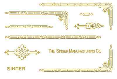 Singer Featherweight 221 Sewing Machine Restoration Decals Gold Metallic  39590