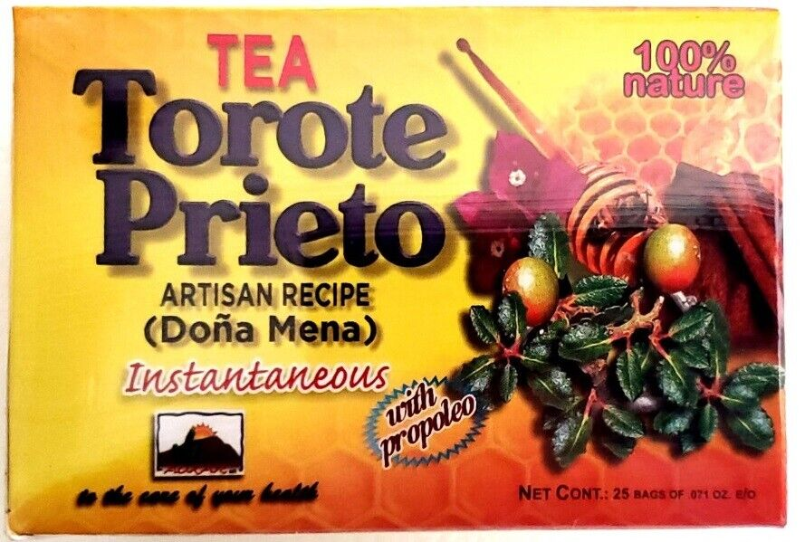 Te Torote Prieto Instantaneo 25 sobres 2gr c/u 100% Natural Receta Artesanal 1