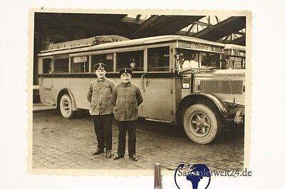 altes Foto mit Bus Chemnitz