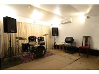 Practise rooms and rehearsal space