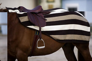 Equi-Theme Stripe Collection Newmarket Fleece Exercise Sheet/Quarter Kidney Rug
