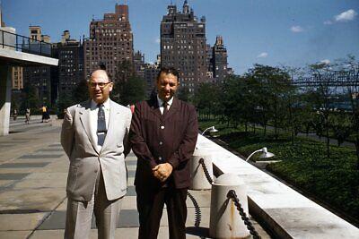 1950s Mens Suits & Sport Coats   50s Suits & Blazers Kodak 35mm Slide 1950s Red Border Kodachrome Men in Suits New York City UN $19.99 AT vintagedancer.com