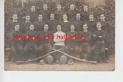 Kitcheners Army No 9 Class, HQ Gymnasium, Dec 1914 Group photo postcard