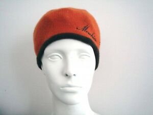 Orange / Brown Knit Hat by Moschino
