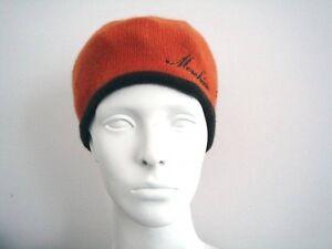 Orange / Brown Knit Hat by Moschino