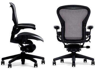 Genuine Herman Miller Aeron Basic Graphite Carbon Chair Medium Size B Warranty