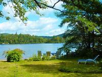 Beau Grand Chalet lac et montagne à St-Adolphe-d'Howard