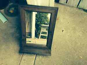 Rustic mirror with ledge