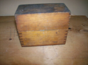 Nice Dove Tailed Box With Metal No Stamps1/8 inch Hand Made GSSW