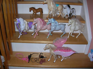 Barbie Horse Big Size 10 x 10 inch Lot of 8 Horses Toys