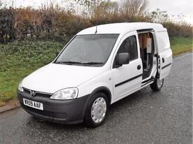 2009 VAUXHALL COMBO VAN 1.3 CDTi WITH SIDE DOOR, White, Manual, Diesel