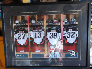 Buffalo Sabres Locker Room Jersey Picture 20 x 26 inches