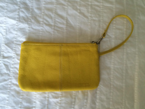 Soprano Yellow Leather Clutch