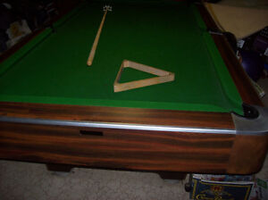 4' x 8'  Thick SLATE   3 PIECE   Pool Table Professional