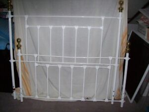 White iron head and foot board for $85.00 NEW PRICE