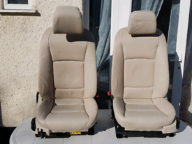 interior leather cream front seats BMW f07 f01 f10