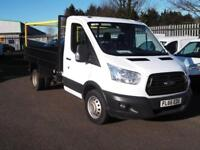 Ford Transit T350 L2 SINGLE CAB TIPPER 125PS EURO 5 DIESEL MANUAL WHITE (2016)