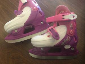 Toddler girls Disney Princess adjustable skates- size 9-12