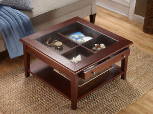 McLeland Design Display Coffee Table White, New