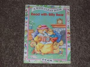 Read With Billy Bear Wipe Clean Book