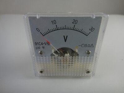 030v Dc 91c4 Analog Volt Voltage Panel Meter Voltmeter