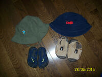Infant Nike Sandal Size 2 & BUM Sandal Size 3, Infant Hats